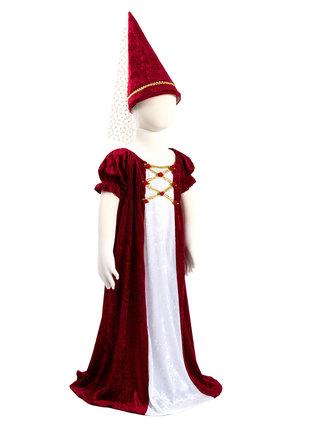 Mjuk sammetsklänning med hatt