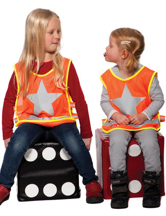 Orange vest with One Star.