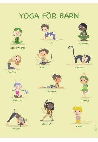 Yoga affisch för barn