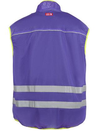 Plum coloured reflective vest.