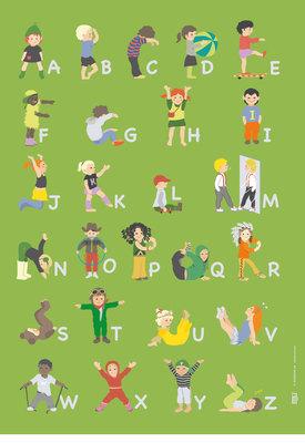 ABC English affisch 50x70cm
