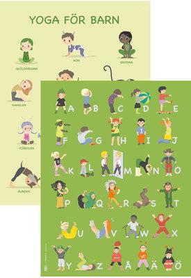 Affischpaket YOGA+Alfabet