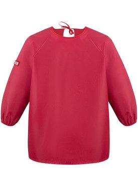 Förkläde lång ärm Röd