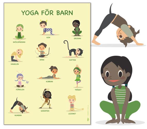 Yoga-affisch för barn.